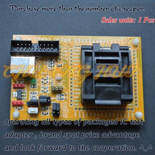 TEST STM32 TQFP64 test socket Programmer adapter QFP64