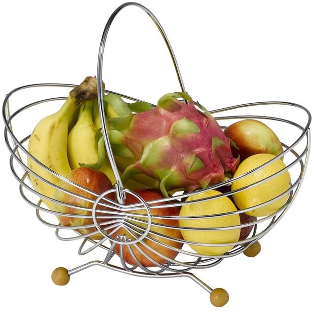 Caliente venta de mano cesta de frutas artesanías regalos De Hierro ...