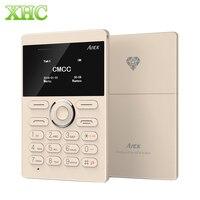 AIEK E1 Tek SIM Mini Cep Kart Telefon 6.5mm Kalınlığı Kart cep Telefonu Desteği Bluetooth TF Kart GSM 2G Çocuk Küçük Telefon
