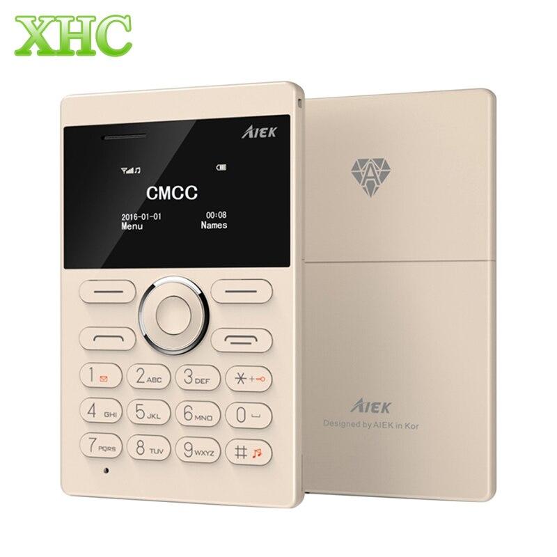 <font><b>AIEK</b></font> e1 одной сим мини сотовый телефон карты 6.5 мм Толщина карты мобильного телефона Поддержка Bluetooth TF карты GSM 2 г ребенок маленький телефон