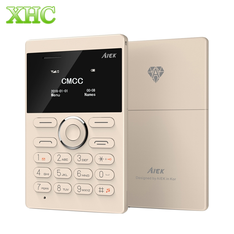 AIEK E1 Single SIM Mini Cell Card Phone 6 5mm Thickness Card Mobile Phone Support Bluetooth