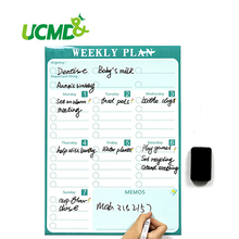 Magnetic Calendar Fridge Magnets Dry Erase Board To-Do List Weekly Daily Planner Organizer for Kitchen Fridge