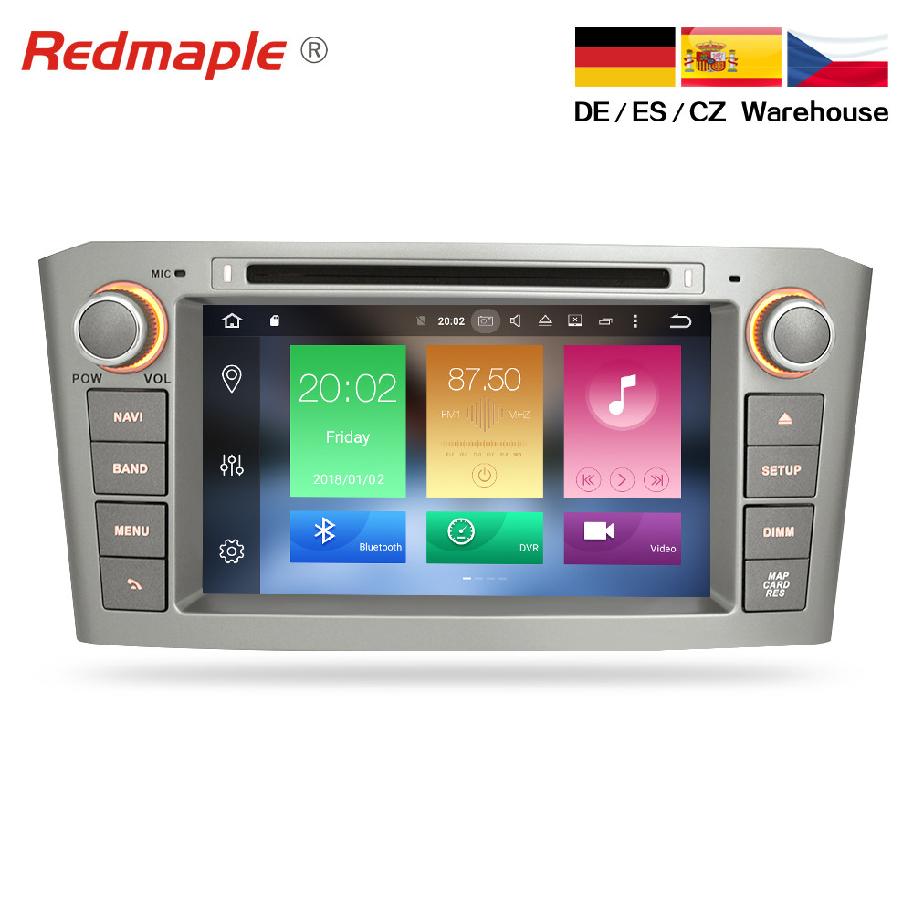 4G RAM <font><b>Android</b></font> 9.0 Car DVD player GPS Navigation Multimedia Stereo For <font><b>Toyota</b></font> Avensis <font><b>T25</b></font> 2003-2008 Auto Radio Audio Headunit image