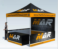3 x 3m Customized Printed Aluminum Promoted Event Fair Exhibition Pop Up Gazebo Marquee Folding Canopy with Whole Tent Printing