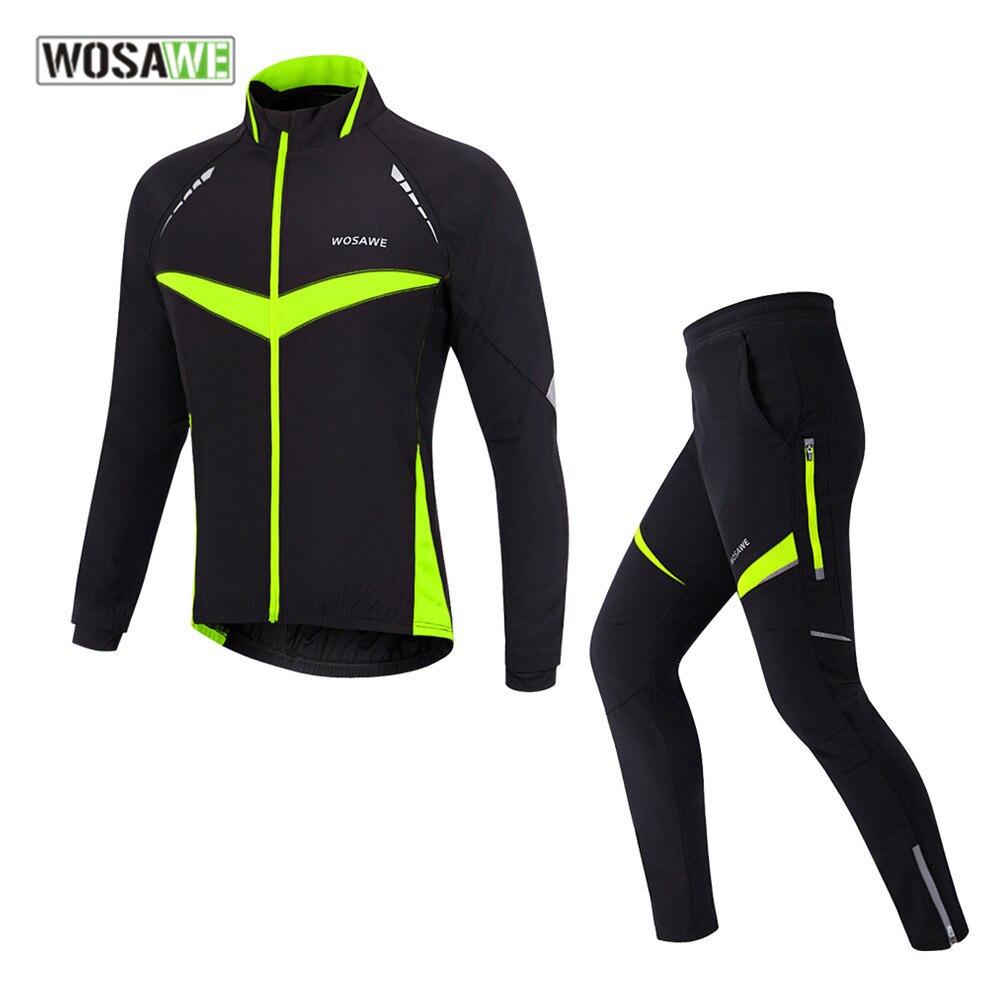 Wosawe & рег зимний плотный мотоцикл куртка тепловой флис мужской внедорожных пальто езда набор мотокросс одежда