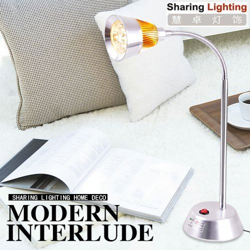 Holiday sale High power High Brightness 270 lumen 3W LED desk light,table lamp light,reading lamp