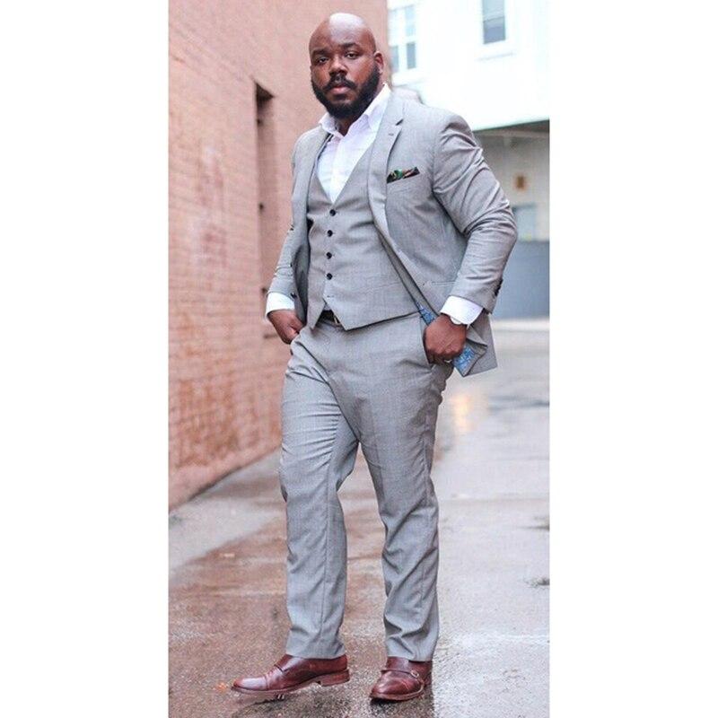 2017 Latest Designs Light Grey Men Suit Slim Fit Tuxedo