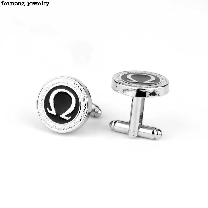 Hot Selling China Factory Stock Small Wholesale 20 Pairs France Crystal  Round Cufflinks Brand Swank Cufflinks