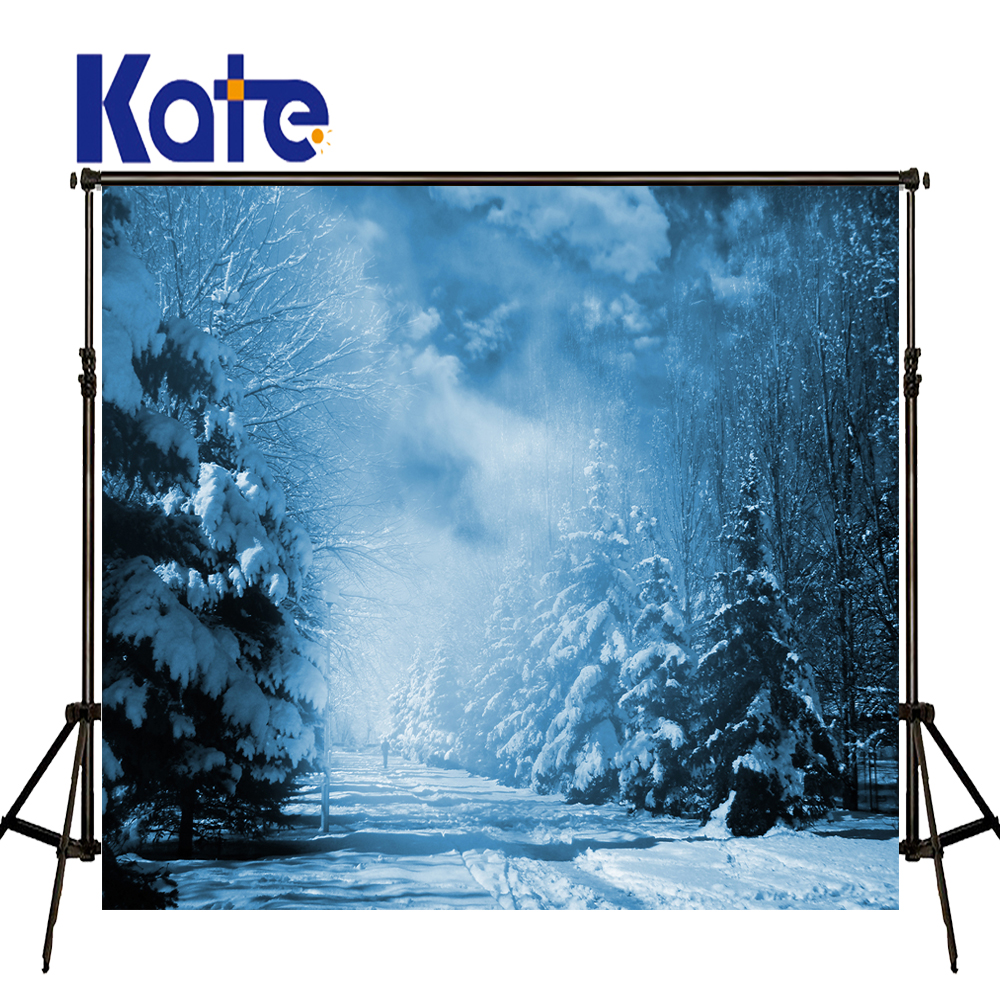KATE Winter Background Ice Snow World Photography Backdrops Natrual Children Backdrop Scenery Night Forest Backdrops for Studio