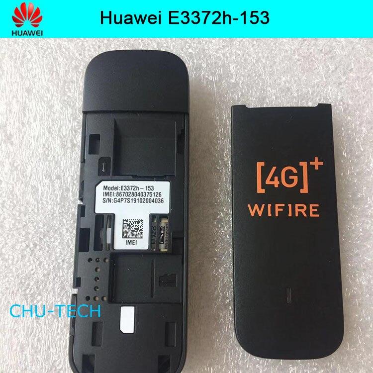 Original débloqué 150 Mbps HUAWEI E3372 E3372h-153 4G LTE Modem dongle clé USB carte de données Mobile haut débit