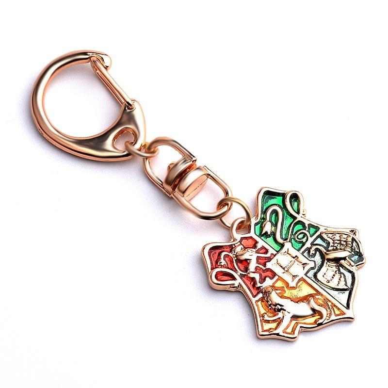 Latest Fashion Harry Hogwarts magic School Badge Keychain Hot Movie School badge Keyring men women Fans Key Chain jewelry Gift