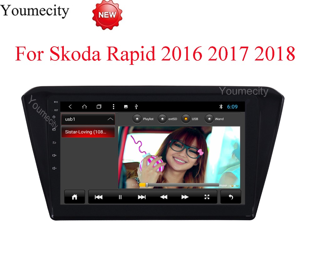 Android 8.1 Car DVD for Skoda Rapid 2016 2017 2018 GPS