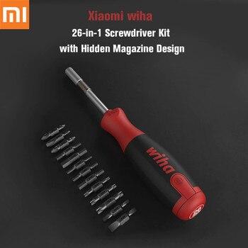 Xiaomi Mijia Wiha Daily Use Screw driver Kit 26-in-1 Precision Bits with Hidden Magazine Magic Kits Box repair accessory