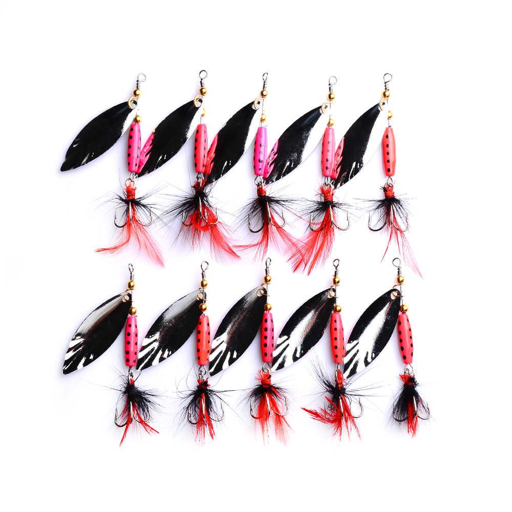 1 pièces coloré Spinner leurres de pêche Wobblers manivelle Jig métal Sequin truite cuillère Pesca Isca appâts durs artificiels