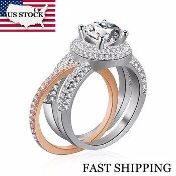7dd524ee4685 Uloveido corazón amor anillo anillos de compromiso para mujeres joyería  Vintage Color plata con ...