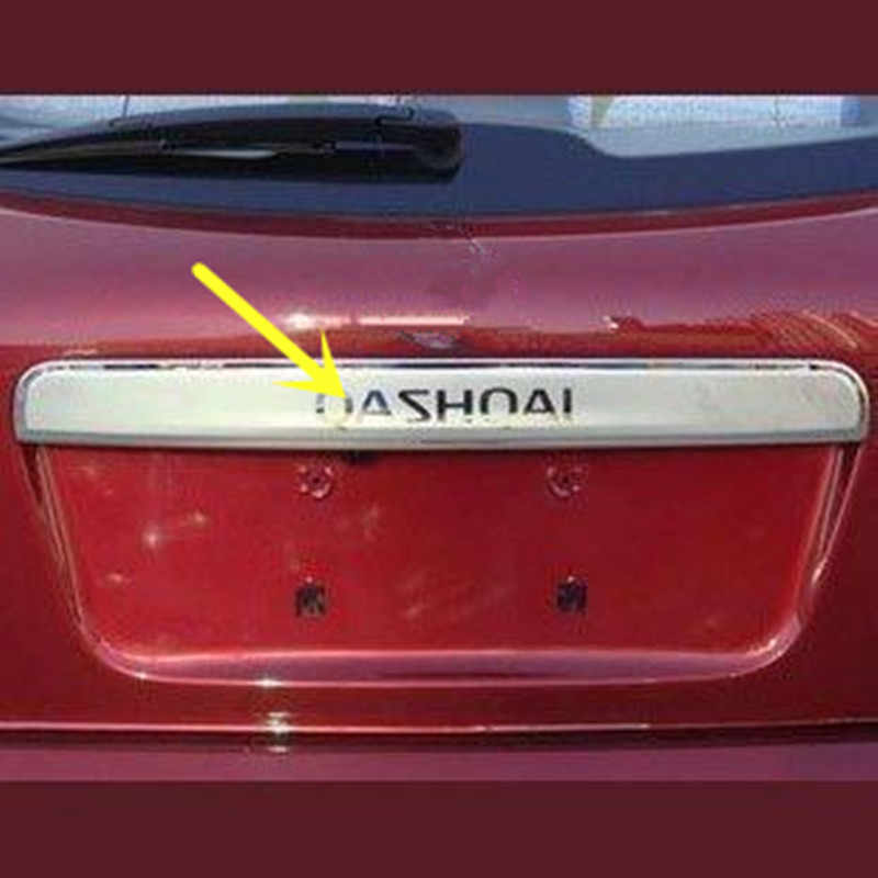 FOR NISSAN QASHQAI STAINLESS STEEL TAILGATE BOOT REAR DOOR GRAB HANDLE TRIM COVER 2008 2009 2010 2011 2012 2013
