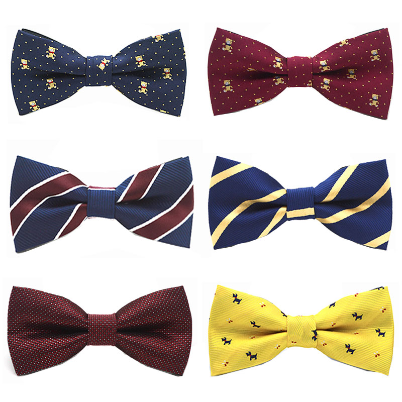 Classic Kid Bowtie Boys Grils Baby Children Bow Tie Fashion Solid Color Mint Red Black White Pets Cravate