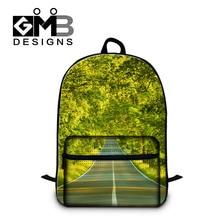 Пейзаж Мода Рюкзаки для женщин девушки цвет листьев школа bookbags стильный рюкзак, для высокого класса студентов колледжа сумки
