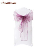 Awillhome 100PCS Pack Full Colour Chair Sashes 7 X108 Wedding Party Ceremony Chair Sashes Decoration Chair