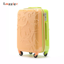 24″ inch Hardside Luggage,Hello Kitty Carry-Ons Vanity suitcase,women's cosmetic box,lovely password lock travel trolley case