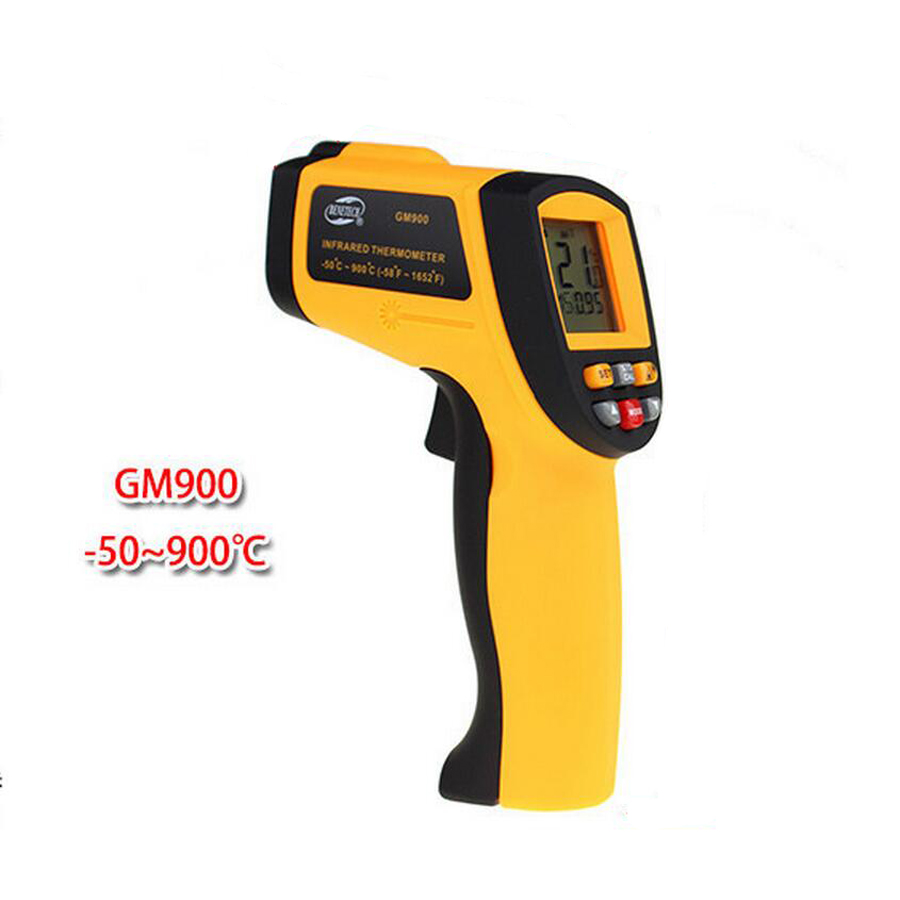 GM900 IR Infrared Thermometer Digital Temperature Meter -50~900C -58~1652F Pyrometer 0.1~1EM Celsius Termometro Infravermelho gm900 non contact temperature meter 50 900c 58 1652f pyrometer 0 1 1em celsius ir infrared thermometer