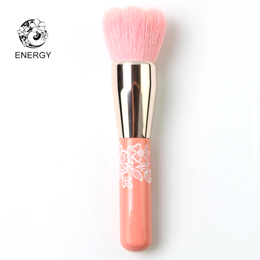 ENERGY Brand Goat Hair Pink Petal Powder Brush Professional Makeup Brushes Make Up Brush Pincel Maquiagem Brochas Pinceaux S30GW h01 professional makeup brushes squirrel hair sokouhou goat hair powder brush walnut wood handle cosmetic tools make up brush