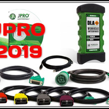 2019 wysokiej jakości JPRO DLA + 2.0 interfejs pojazdu Diesel najnowszy 2019 oprogramowanie do pojazdów ciężarowych o dużej ładowności skaner narzędzie diagnostyczne floty