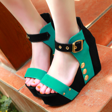 On Sale Shoes Women Sandals Wedge High Heels Woman