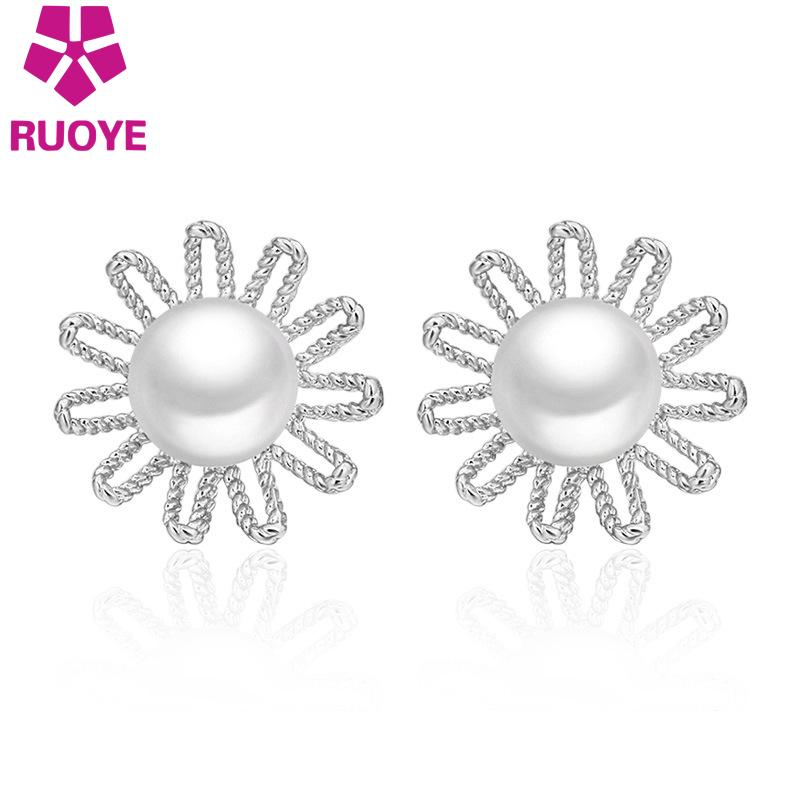 from pearl pink round dhgate vichok jewelry silver party ball stud white fashion for simple women earrings lady product girl sterling