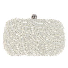 Luxury Crystal Evening Clutch Bag Elegant Women Handbag Lady Wedding Purse Party Rhinestones Pearl Wallet