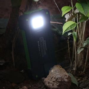 Image 3 - 10000mAh Power Bank แบบพกพาพลังงานแสงอาทิตย์แผงชาร์จฉุกเฉินภายนอกแบตเตอรี่กันน้ำสำหรับโทรศัพท์มือถือ iPhone Samsung