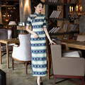 New Arrival Vintage Chinese Tradition Women's Lace Cheongsam Dress Charming Sexy Qipao Size S M L XL XXL 3XL  F661