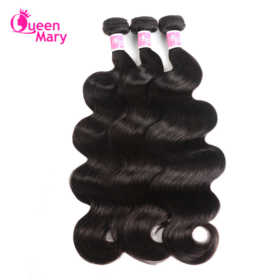 Queen Mary Hair 3 Bundles Malaysian Body Wave Bundles Malaysian Hair Weave Bundles 100% Human Hair Bundles Non Remy Extensions
