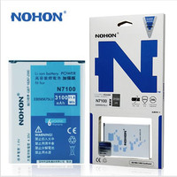 100 Original Nohon Battery For Samsung Galaxy Note2 N7100 N7105 E250S E250L E250K High Capacity 3100mAh