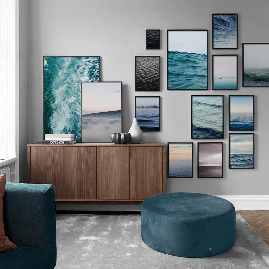 Gohipang Sea Ocean Wave Landscape Wall Art Canvas Painting Nordic Posters And Prints Wall Pictures For Living Room Bedroom Home