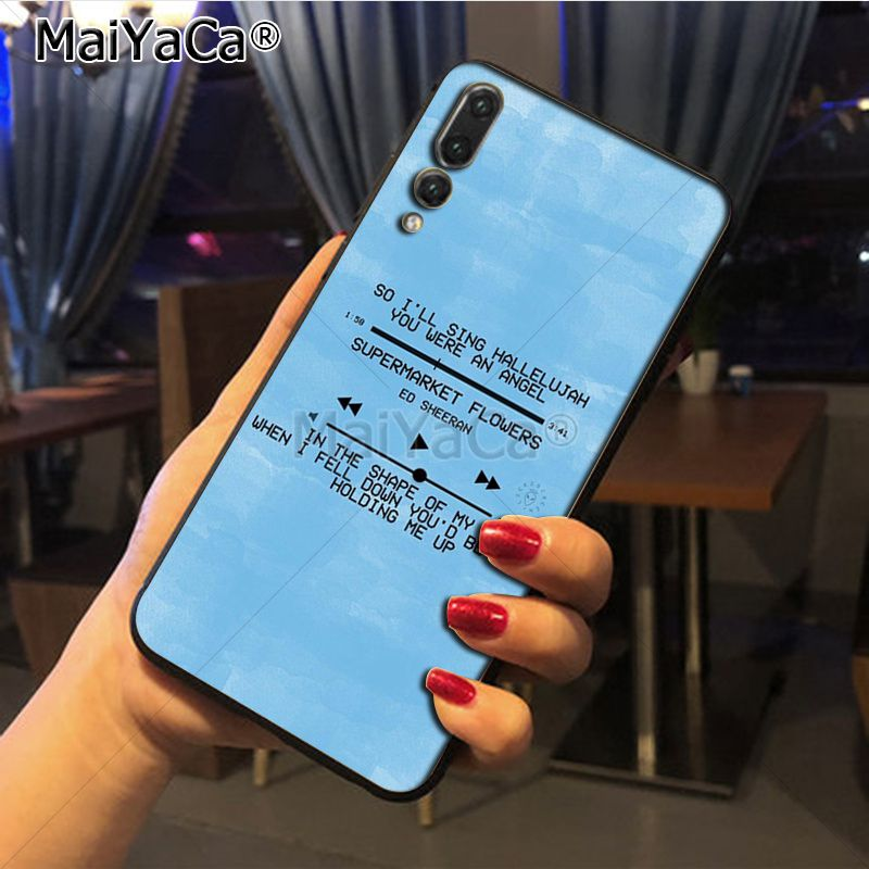 US $0 62 43% OFF|Maiyaca Ed Sheeran Lyrics Pictures Cute Phone Accessories  Case for Huawei P20 P20 pro Mate10 P10 Plus Honor9 cass-in Half-wrapped