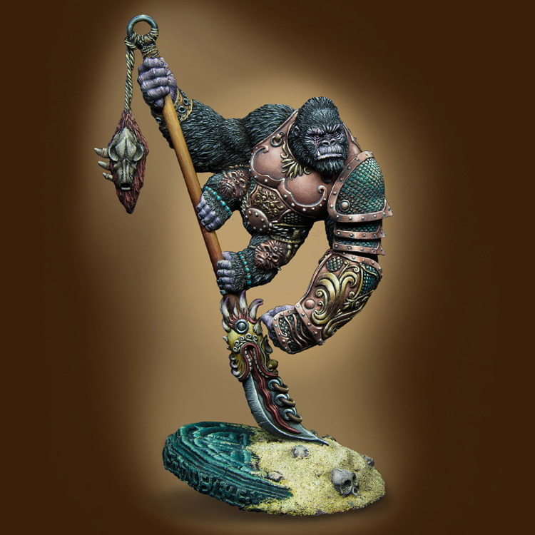 40mm scale resin figures model kit WARLORD KONG Unpainted and unassembled Free shipping R112G 1 10 bust resin model kit young soldier 1944 figures model unpainted and unassembled free shipping 92dd