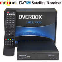 OVERBOX M9S PRO DVB-S2 auricular receptor de satélite apoyo PowerVu Biss clave newcam Youtube HDMI 1080P HD digital reproductor de medios