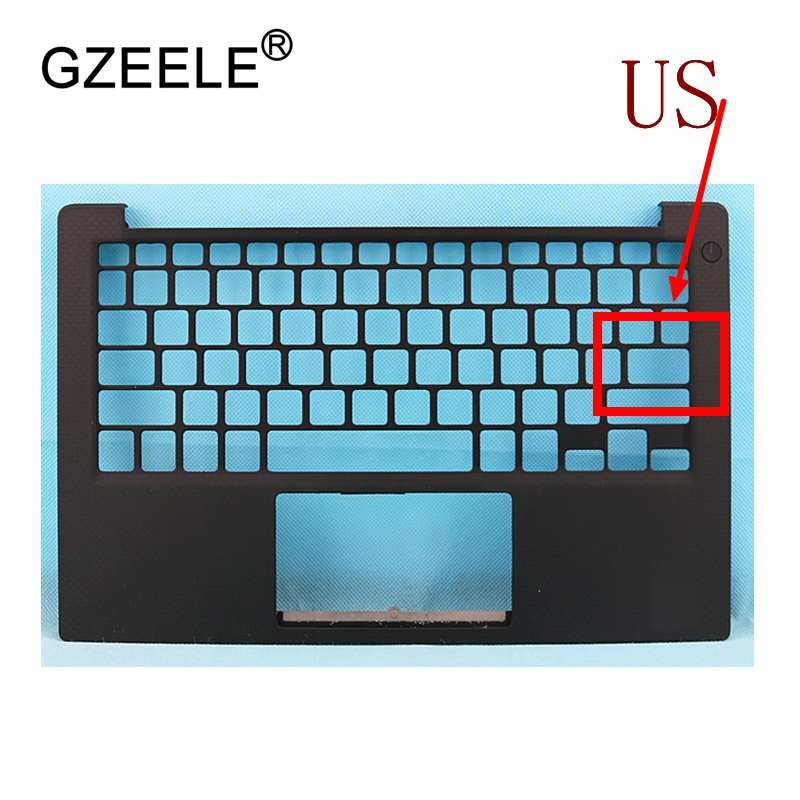GZEELE New laptop upper base cover for Dell XPS 13 9343 without Touchpad TOP CASE Keyboard Bezel 0PHF36 0WTVR9 palmrest laptop us keyboard for dell xps13 9343 9350 9360 backit keyboard touchpad and palmrest assembly