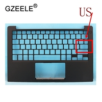 GZEELE New laptop upper base cover for Dell XPS 13 9343 without Touchpad TOP CASE Keyboard Bezel 0PHF36 0WTVR9 palmrest
