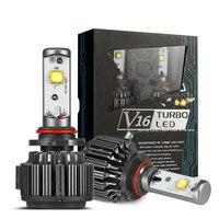 Car led headlamp H7 H8 H9 H11 9005 9006 CREEs 30w 40W V16 Turbo led lamp auto 4000LM 3600lm LED head work light Auto Headlight