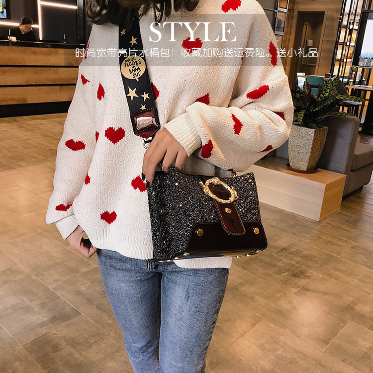 Women Patchwork Handbag Crossbody Bag Soft Leather Square Casual Ladies Chain Shoulder Girl Chain Messenger Satchel Bag louis 8