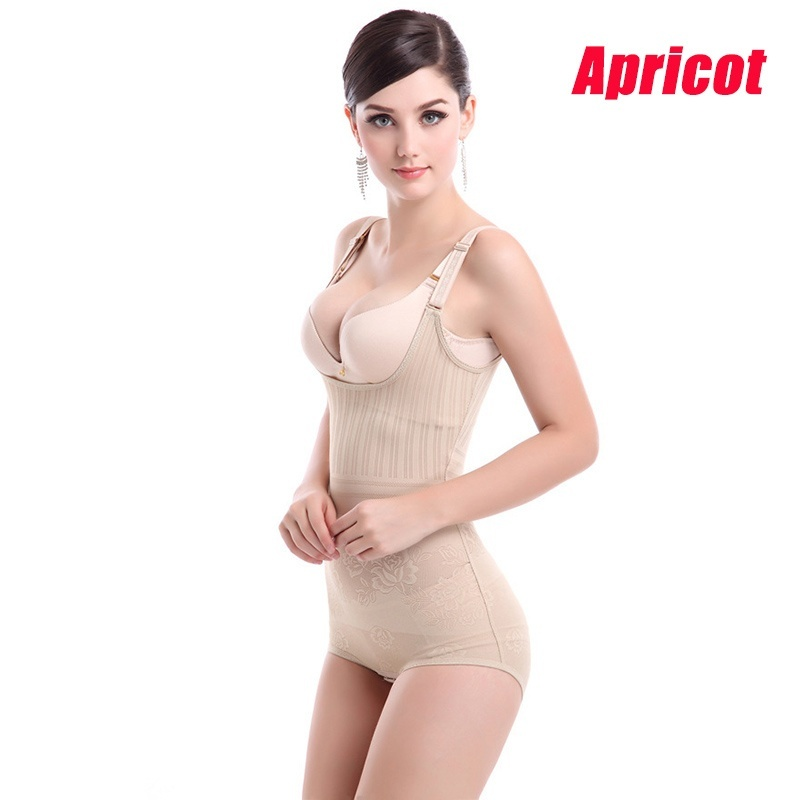 b3aa0ce1d7 Ladies Intimate Sexy Lingerie Corset 3 Layer Button Slim Waist Lift Up  Breast and Hip Jumpsuit Bustier for Women-in Bustiers   Corsets from  Underwear ...