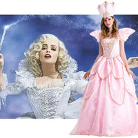 Snow White Girl Princess Dress Beauty and the Beast Cosplay Cinderella Princess Costume Fairy Godmother Dress CosplayXC 7115