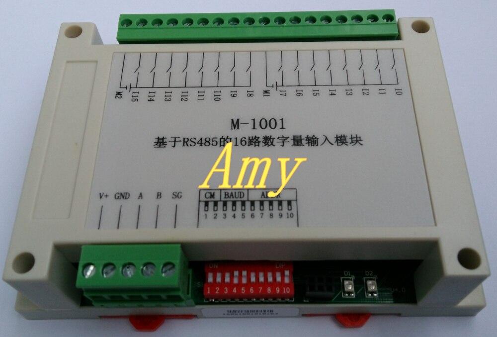 M-1001 Modbus Based 16 Way Isolation Digital Input Module (PNP Type) Plug And Pull Terminal