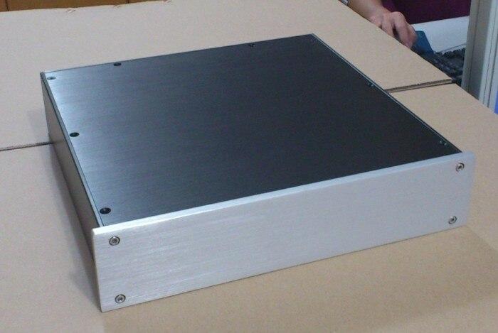 3207 Full aluminum Preamp / Power amp amplifier Enclosure Case high quality full aluminum power amplifier enclosure suitable for pga2311 preamp