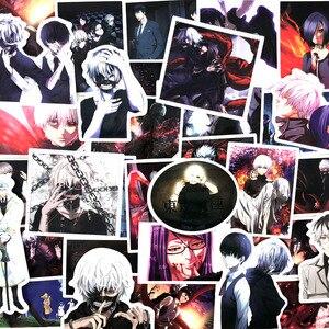 Image 5 - 10/50 قطعة/الوحدة اليابان أنيمي طوكيو الغول ل الأمتعة المحمول سكيت سيارة دراجة ظهره ملصق مائي Pegatinas لعبة ملصقات