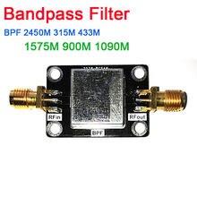 Фильтр Bandpass BPF 2045 МГц 315 МГц 433 МГц 1575 МГц 900 МГц 1090 МГц LC анти помехозащищенный 315 433 для SDR радио любительские радиоусилители