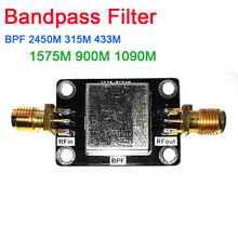 Bandpass Filtro BPF 2045MHZ 315MHZ 433MHZ 1575MHZ 900MHZ 1090MHZ LC Anti interferência 315 433 PARA Amplificadores de Rádio Amador de Rádio SDR