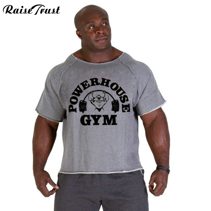 2019 Zomer fitness heren Plus Size Print bodybuilding slijtage shirt Merk vest musculation Fitness T-shirt Casual T-shirt